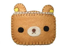 Rilakkuma Cute Bear Wallet by SooDesignz on Etsy, $12.00