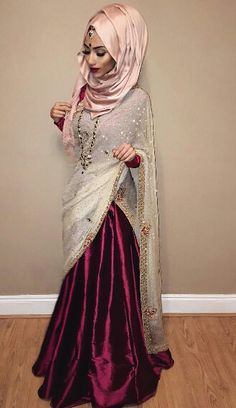 Modern Saree With Hijab Style