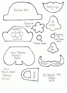 Yes please...Printable template for a Mr. Potato Head