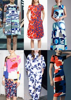 Resort 2015   Catwalk Print  Pattern Trend Highlights Kenzo / Jill Sander / Novis / Peter Pilotto / See by Chloé / Thierry Mugler