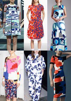 Resort 2015   Catwalk Print  Pattern Trend Highlights Kenzo / Jill Sander / Novis / Peter Pilotto / See by Chloé / Thierry Mugler