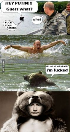 Don't mess with Putin Some Funny Jokes, Crazy Funny Memes, Really Funny Memes, Stupid Funny Memes, Funny Relatable Memes, Haha Funny, Funny Cute, Funny Meme Pictures, Funny Images