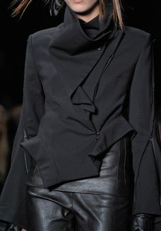 delightful black edgy jacket - i would like to add this to my life. fall 2012 i would be all over this.