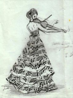 Violin and Music Dress