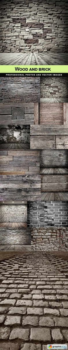 Wood and brick  stock images