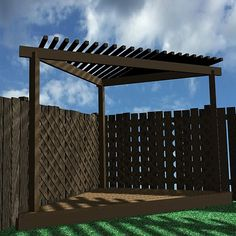 Triangular Pergola | wood pergola 3d dxf - Pergola 005... by VisualMotion