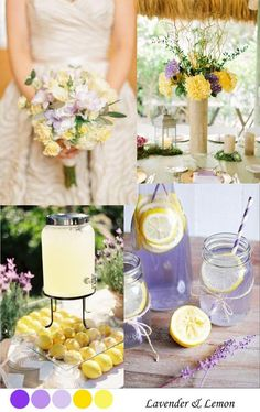 Lavender & Lemon Wedding Palette: