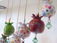 paper mache pomegranate tutorial - Google Search
