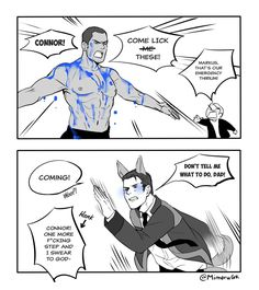 """Mimoru on Twitter: """"LET.THE.BOY.LICK #DetroitBecomeHuman #connor #markus #Marnor… """""""