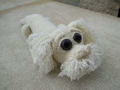 Inspiration Only - Crocheted Falcor from neverending story Diy Crochet, Crochet Crafts, Crochet Dolls, Crochet Baby, Crochet Projects, Amigurumi Patterns, Knitting Patterns, Crochet Patterns, Softie Pattern