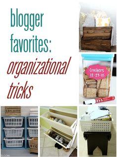 blogger favorites: organizational tricks