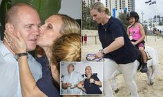 Zara Phillips kisses Mike Tindall on Gold Coast beach for Magic Millions
