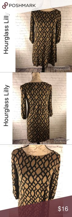 Hourglass Lilly dress, size M Hourglass Lilly brown and black shift dress, size M.  Super soft material.  Excellent used condition  I 💝 offers!! Hourglass Lilly Dresses