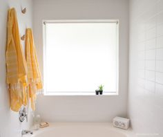 What stacked 4x10 tile looks like. Our remodeled master bathroom   EmilyMcCall.com