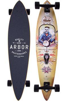 "Arbor Fish GT 2014 39"" (99cm) Longboard completo"