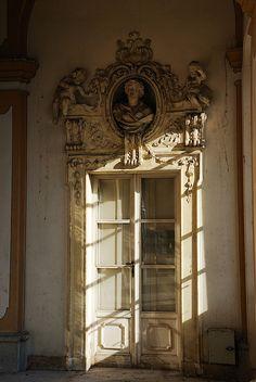 Interior doors in an 18th Century Italian Villa near Turin