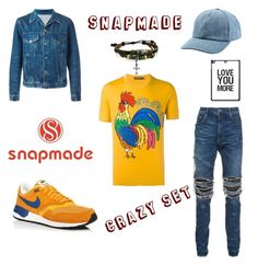 """""""Crazy snapmade set ^^"""" by benelux2 ❤ liked on Polyvore featuring Dolce&Gabbana, AMIRI, NIKE, AMI, Gucci, Bling Jewelry, men's fashion and menswear"""