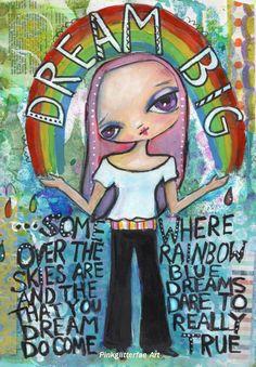 https://flic.kr/p/eMtCbA   Rainbow girl   Mixed media journal page