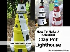 How To Make A Beautiful Clay Pot Lighthouse