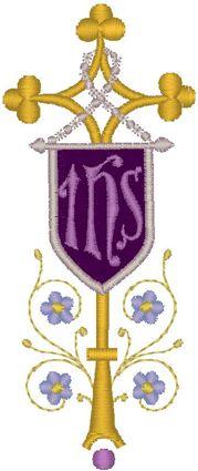 Vintage Ecclesiastical Cross Design 494 Embroidery Design