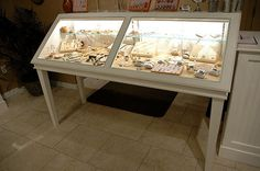 Jewelry Display Case Material: Wood Finish: Semi-Gloss White Dimensions: 72 in x 36 in x 24 in