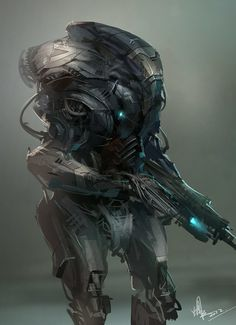ArtStation - Machine guards, Feng guo