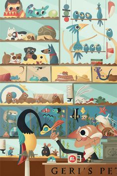 From Andrew Kolb - all of the Pixar shorts and features in one fabulous illustration. Can you spot them all?