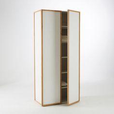 Armoire 2 portes/5 étagères chêne massif, Compo