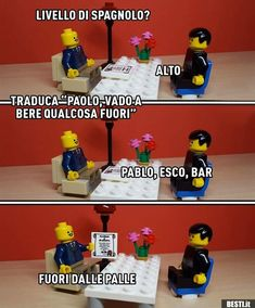 Lego Pictures, Cute Pictures, Lego Hacks, Lego Memes, Italian Memes, Diy Kids Furniture, Savage Quotes, Funny Scenes, Funny Comics