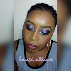 Purple sultry look