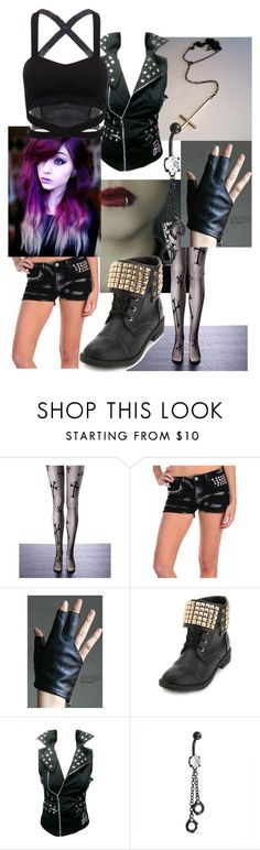 """""""Untitled #611"""" by creepypasta-music-anime-love ❤ liked on Polyvore featuring Vintage Havana, Charlotte Russe and Bling Jewelry"""