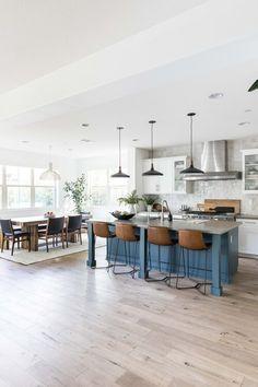 Vivido — Pure Salt Interiors Kitchen Dining Living, Kitchen Redo, Home Living Room, Kitchen Remodel, Kitchen Ideas, Home Design, Tan Leather Sofas, Open Concept Kitchen, Interior Design Companies