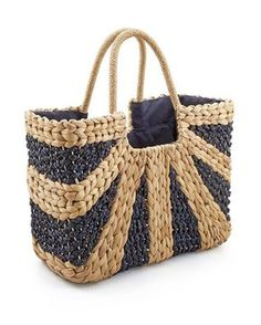 Chico's Reba Straw Bag. The perfect summer tote for the beach!