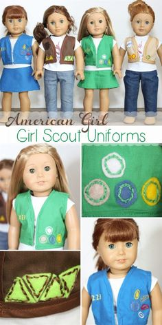 American Girl Doll clothes pattern to make Girl Scout Uniforms for your dolls…