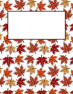 Free printable maple leaf binder cover template. Download the cover in JPG or PDF format at http://bindercovers.net/download/maple-leaf-binder-cover/