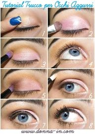 Blue Eyes Make Up Tutorial