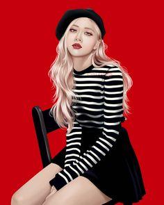 Yg Entertainment, K Pop, Black Pink Dance Practice, Blackpink Poster, Rose Queen, Aesthetic Women, Black Pink Kpop, French Girls, Rose Art