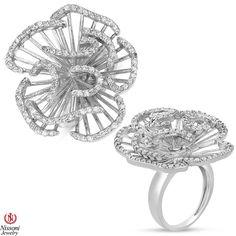 Ebay NissoniJewelry presents - Ladies Diamond Flower Fashion Ring in 14K White Gold with 1CT Diamonds    Model Number:UB8088FRW    http://www.ebay.com/itm/Ladies-Diamond-Flower-Fashion-Ring-in-14K-White-Gold-with-1CT-Diamonds/321611848811