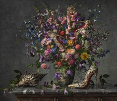 Christian Louboutin's SS14 Collection Photographed As Impressionist Art by Peter Lippmann | http://www.yatzer.com/SS14-Louboutin-peter-lippmann