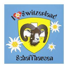 Schaffhausen - Schweiz - Suisse - Leinwand Leinwanddruck
