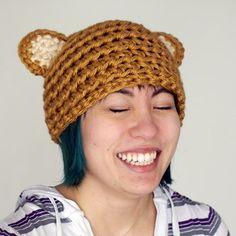 Crocheted Bear Hat