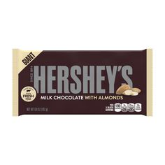 Hershey's Milk Chocolate Candy Bar With Almonds, Oz, Pack Of 3 Bars Hershey Chocolate Bar, Giant Chocolate, I Love Chocolate, Delicious Chocolate, Chocolate Lovers, Giant Candy Bars, Kosher Candy, Almond Bars, Favorite Candy