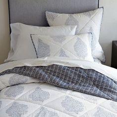 The stylish hand-blocked medallion bedding