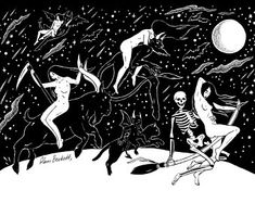 Dark forest, glow of the lake, an eternal dance of death — Witches Sabbath by Glam Beckett ( my edits ) Art And Illustration, Beltane, Arte Lowbrow, Walpurgis Night, Traditional Witchcraft, Dance Of Death, Satanic Art, Arte Obscura, Occult Art