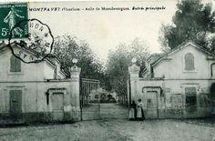 L'ingresso della clinica di Montfavet nei pressi di Avignone dove Camille è stata ricoverata tranne brevi interruzioni dal 1914 al 1943, in una cartolina di inizio '900.