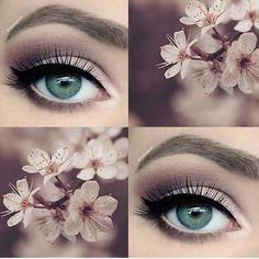 Tonos morados y rosas para un look super girly. #Ojos #Sombras