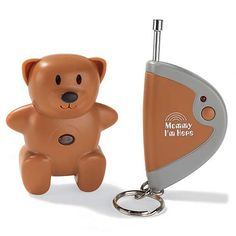 connect the teddy bear to kid's shoe/backpack/belt loop, if you lose your child in a crowd, you push a button and the bear will start beeping so you can find your way to them