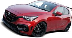 FRONT BUMPER SPOILER for DEMIO DJ Mazda Hatchback, Mazda 2, Weird Cars, Cool Cars, Japanese Cars, Car Stickers, Custom Cars, Zoom Zoom, Vehicles