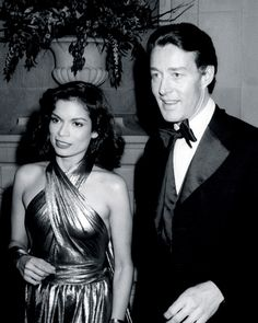 Halston and Bianca Jagger, attend the Costume Institute Gala, at New York's Metropolitan Museum of Art in 1977.