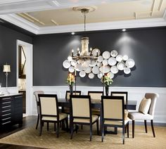 Detail of tray ceiling  Dining Room Designs | Jane Lockhart Interior Design